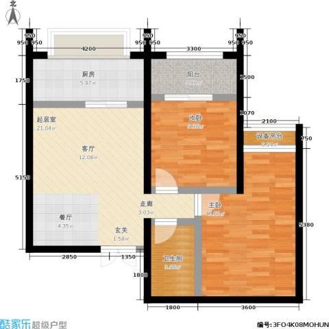 尚品花都2室0厅1卫1厨87.00㎡户型图