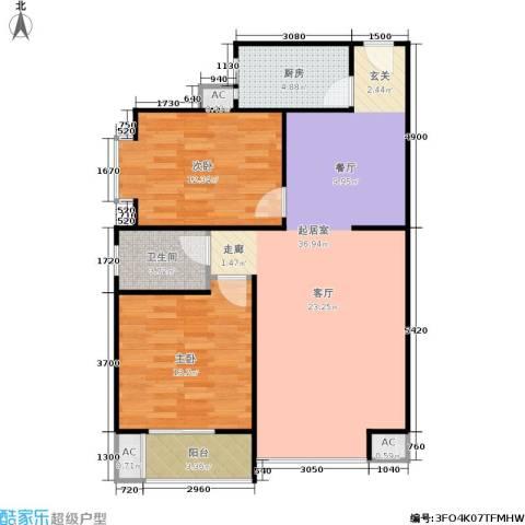 香居美地2室0厅1卫1厨90.00㎡户型图