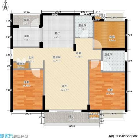 茂华国际湘3室0厅2卫1厨127.00㎡户型图