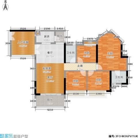佳大银湾4室0厅2卫1厨136.00㎡户型图