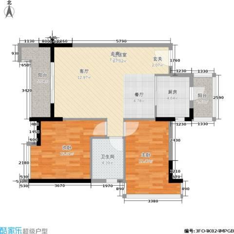 阳光国际商城2室0厅1卫1厨94.00㎡户型图