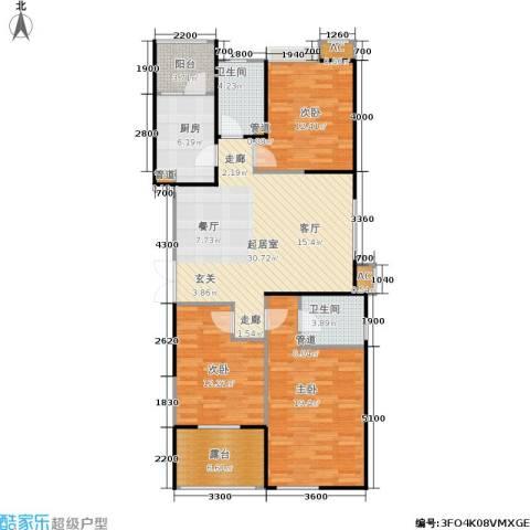 长安壹品3室0厅2卫1厨130.00㎡户型图