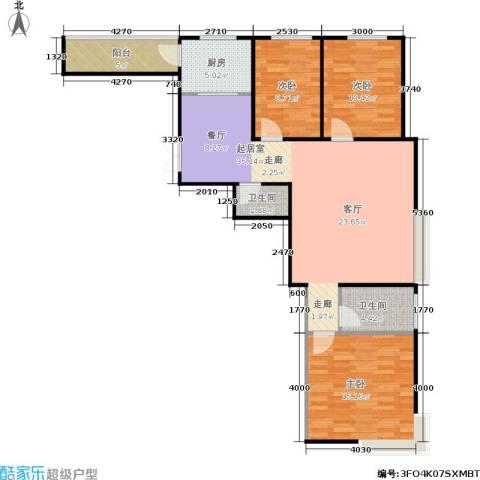 风情假日3室0厅2卫1厨93.00㎡户型图