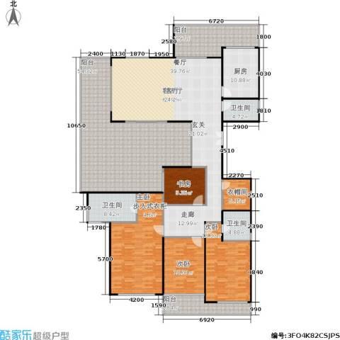 联发五缘湾1号4室1厅3卫1厨323.00㎡户型图