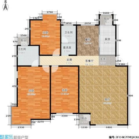 中冶东山庭院3室1厅2卫1厨249.00㎡户型图