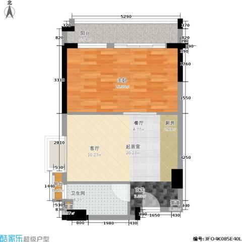 顺联新城花园1室0厅1卫0厨55.00㎡户型图