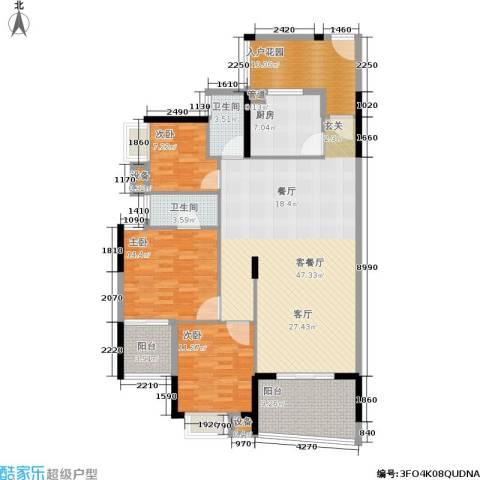 顺联新城花园3室1厅2卫1厨133.00㎡户型图
