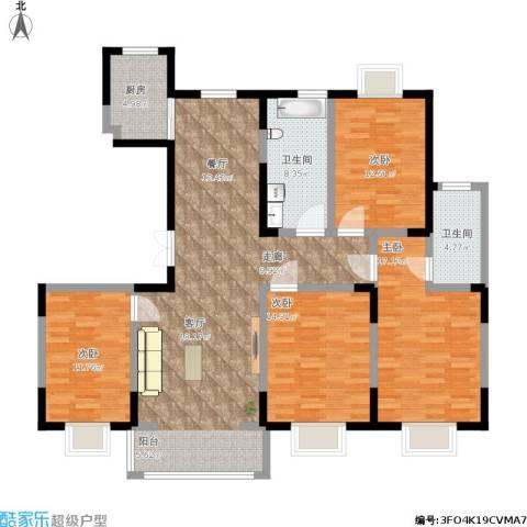 恒盛泰晤士印象4室1厅2卫1厨171.00㎡户型图