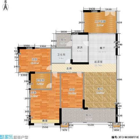 雍禾苑・康帕利小镇3室0厅2卫1厨117.00㎡户型图