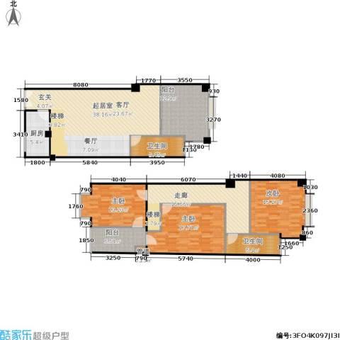 迎江华庭3室0厅2卫1厨147.00㎡户型图