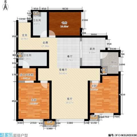 SR国际新城二期3室1厅2卫1厨169.00㎡户型图