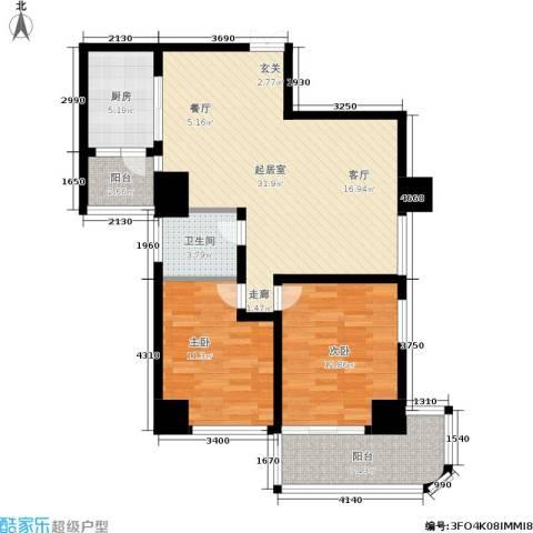 龙湾贰号2室0厅1卫1厨89.00㎡户型图