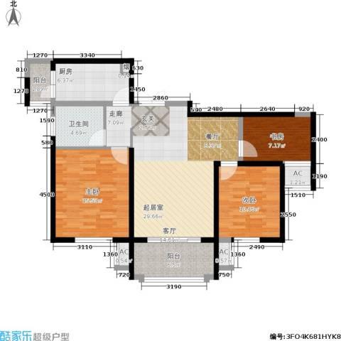 东方米兰国际城3室0厅1卫1厨94.00㎡户型图