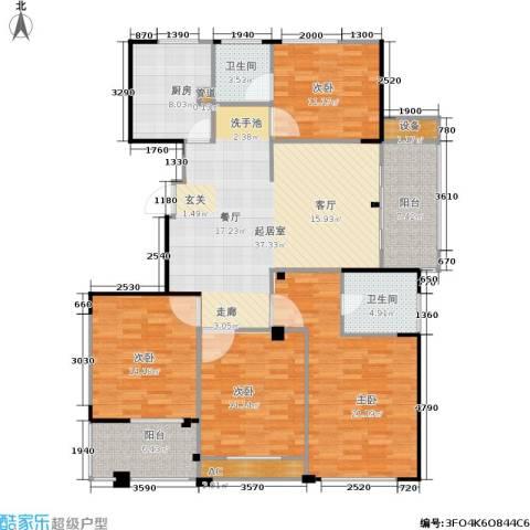 长江国际花园二期4室0厅2卫1厨140.00㎡户型图