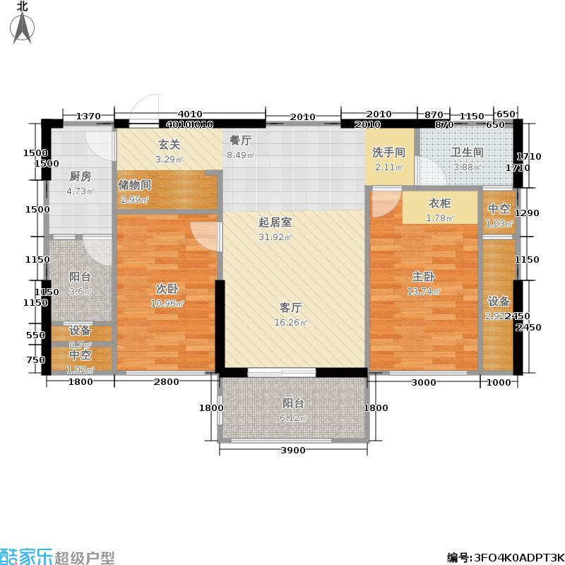 隆鑫国际4号楼2号房户型