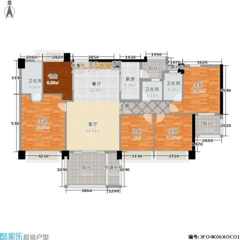 时代花生5室1厅3卫1厨170.00㎡户型图