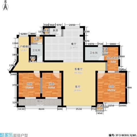 SR国际新城二期3室1厅2卫1厨184.00㎡户型图