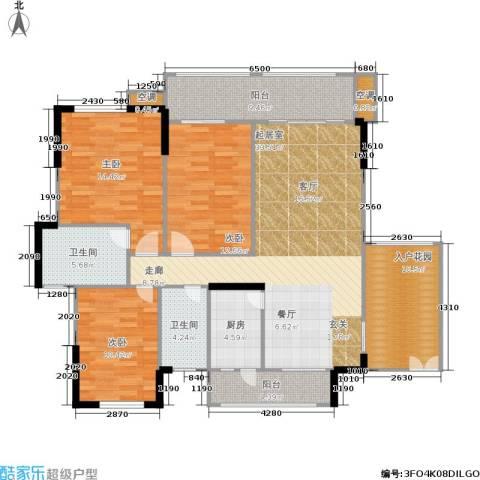 雍禾苑・康帕利小镇3室0厅2卫1厨123.00㎡户型图