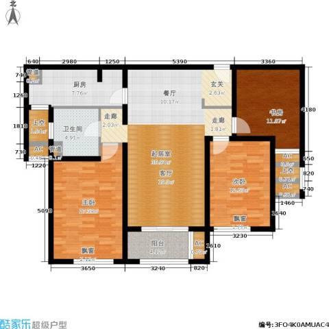 金色家园3室0厅1卫1厨124.00㎡户型图