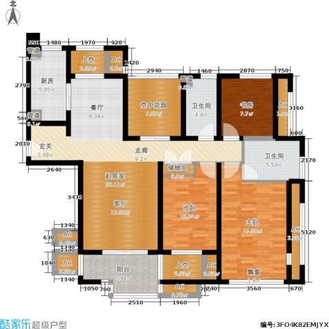 金色家园3室0厅2卫1厨143.00㎡户型图