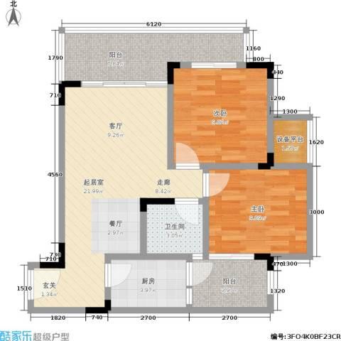 金佛美庐2室0厅1卫1厨89.00㎡户型图