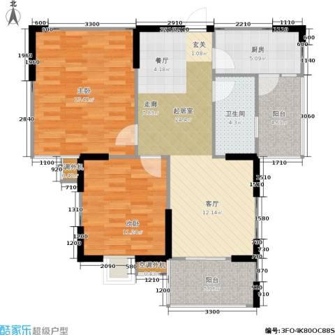 莱茵河畔花园2室0厅1卫1厨90.00㎡户型图