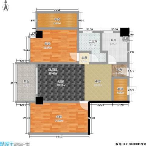 颐和雅轩2室0厅1卫1厨80.00㎡户型图
