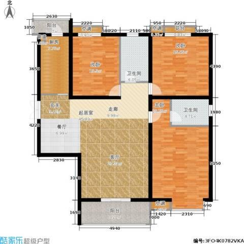 锦绣泉城3室0厅2卫1厨182.00㎡户型图