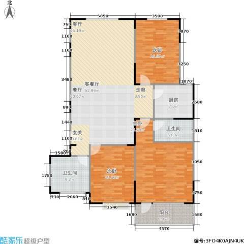 山大新苑3室1厅2卫1厨180.00㎡户型图
