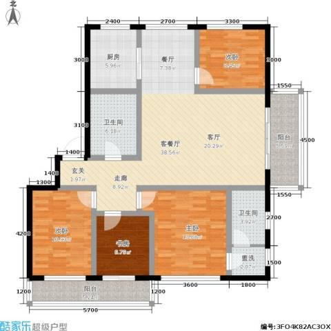 富都丽景4室1厅2卫1厨145.00㎡户型图