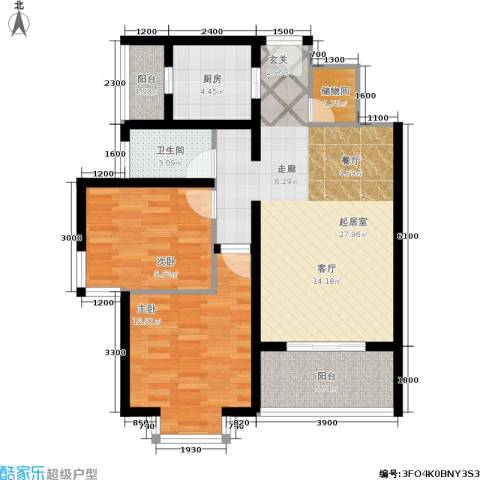 国际幸福城2室0厅1卫1厨110.00㎡户型图