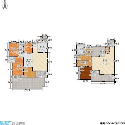 伊顿国际5室2厅3卫1厨185.00㎡户型图