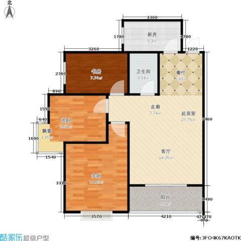欧罗巴小镇3室0厅1卫1厨99.00㎡户型图