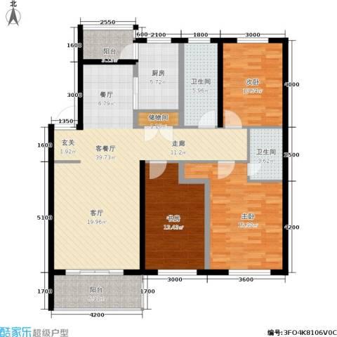 富都丽景3室1厅2卫1厨149.00㎡户型图