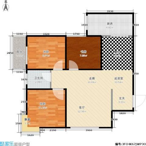 欧罗巴小镇3室0厅1卫1厨92.00㎡户型图