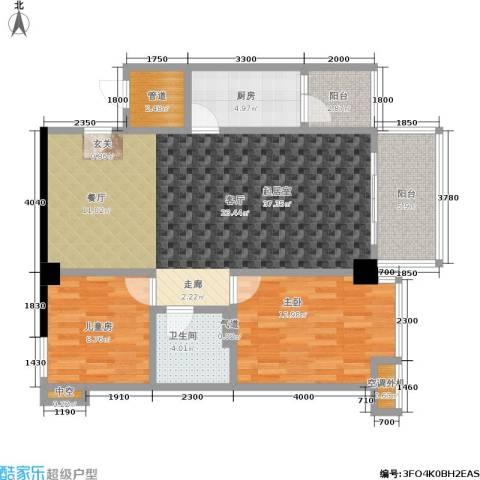 颐和雅轩2室0厅1卫1厨99.00㎡户型图