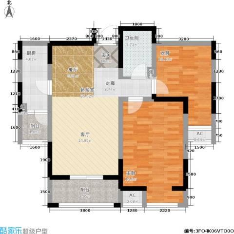 大明宫逸居2室0厅1卫1厨81.38㎡户型图