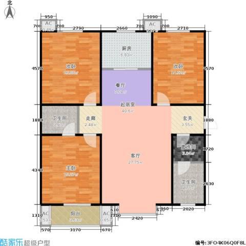 香居美地3室0厅2卫1厨121.00㎡户型图