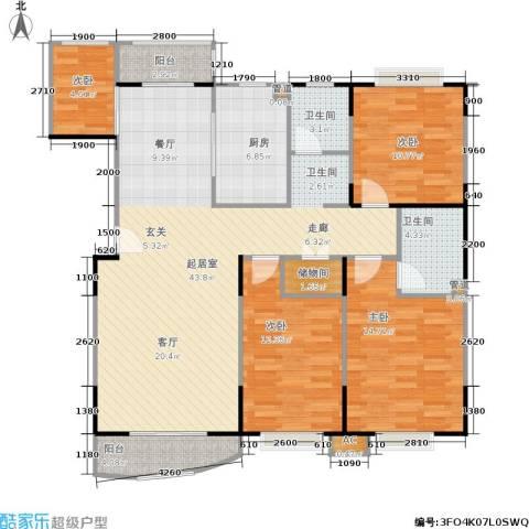 公园20464室0厅2卫1厨169.00㎡户型图