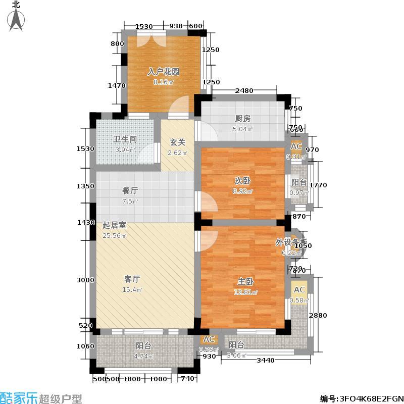 中国诺贝尔城两室两厅两卫户型2室2厅2卫