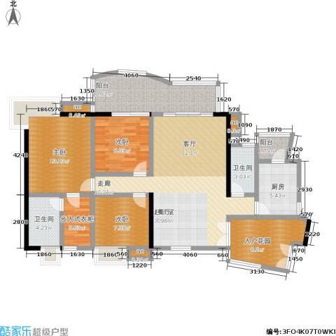 富力银禧花园3室0厅2卫1厨116.00㎡户型图