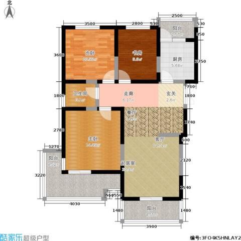 檀香园3室0厅1卫1厨114.00㎡户型图