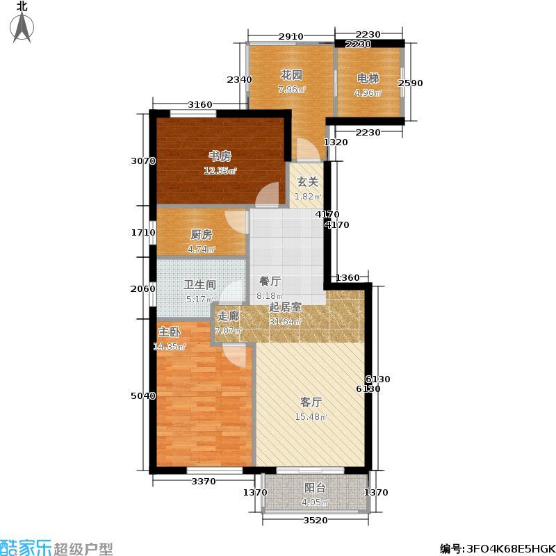 益嘉广场6号楼A户型2室1卫1厨