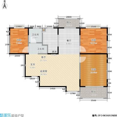 公园20463室0厅1卫1厨115.00㎡户型图