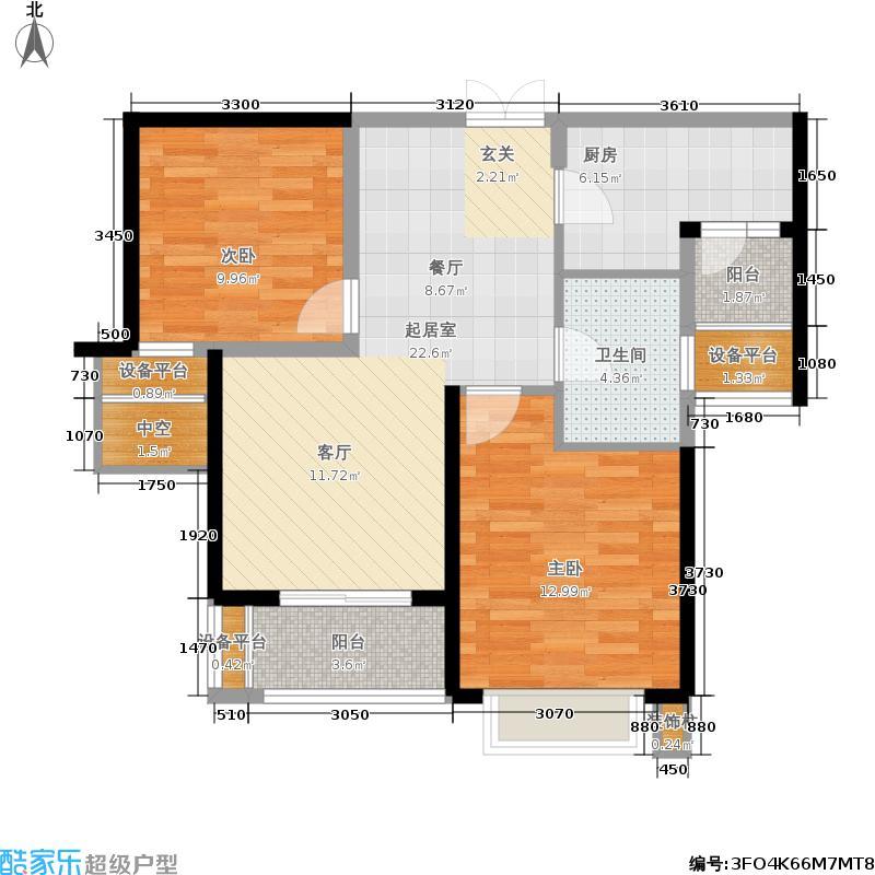 华润置地中央公园90.00㎡华润置地中央公园户型图D户型(11/13张)户型10室