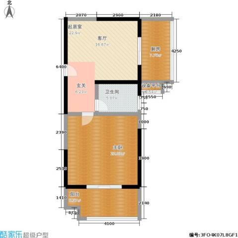 明德8英里1室0厅1卫1厨76.00㎡户型图