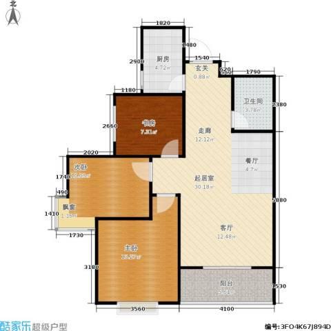 欧罗巴小镇3室0厅1卫1厨101.00㎡户型图
