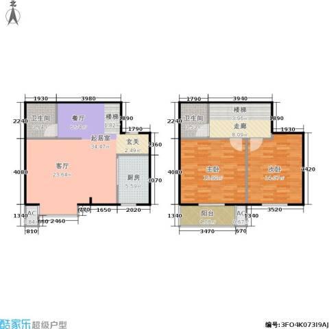 香居美地2室0厅2卫1厨101.00㎡户型图