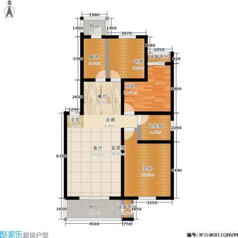 银领花园3室0厅1卫1厨120.00㎡户型图