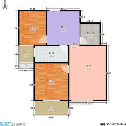 风情假日2室0厅1卫1厨90.00㎡户型图